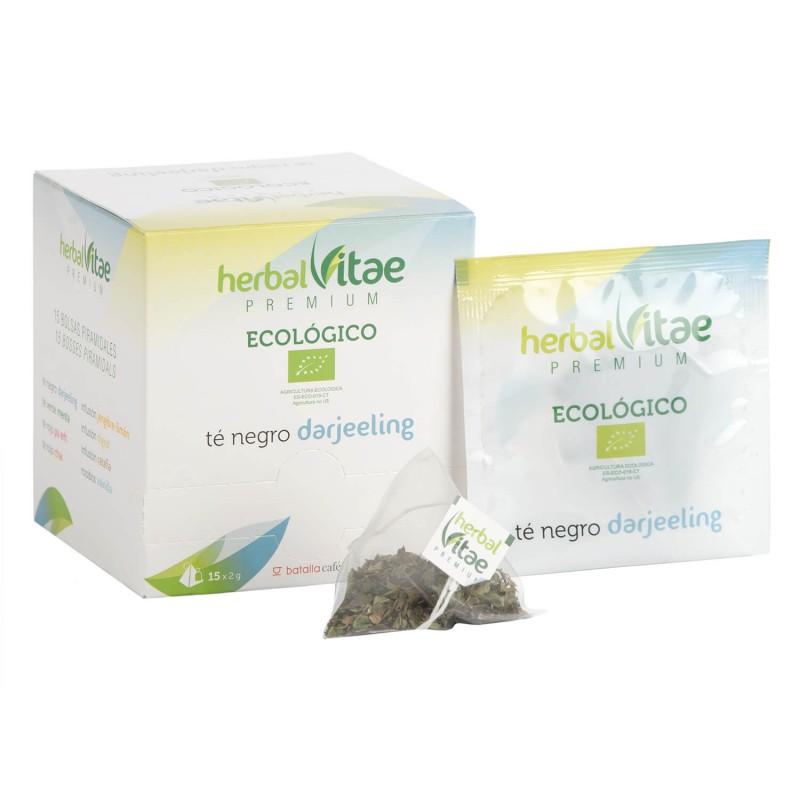 Infusión Ecológica Herbal Vitae Té Negro Darjeeling pirámides 15u.